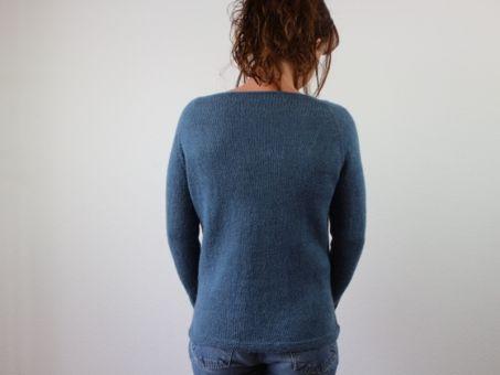 "Strickanleitung Pullover ""Simply Blue"""