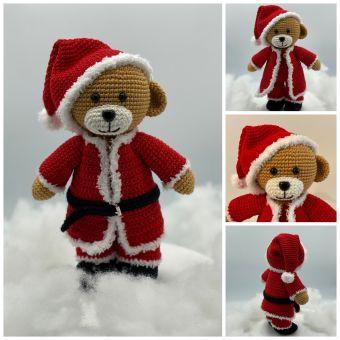 Häkelanleitung Weihnachtsbären Theo und Thea