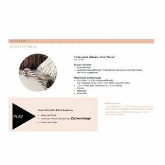 PDF-TUTORIAL für 8 versch. Makramee Weihnachtsornamente