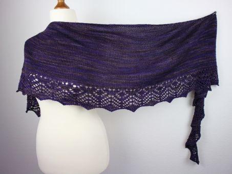 "Knitting patter shawl ""Willow"""