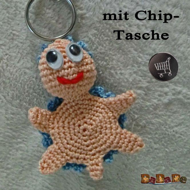 Dadade Schlüsselanhänger Schildkröte Mit Tasche Für Chip Oder