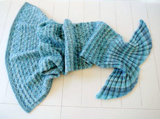 Woolaffair Strickanl Meerjungfrauen Decke Mit Farbverlauf No