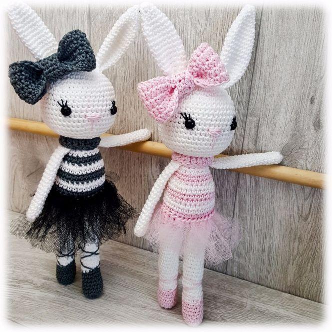 Amigurumi Ballerina Häschen Mit Liebe Gehkelt Spielzeug Plüschtiere & -figuren
