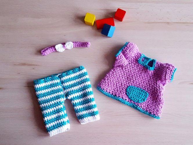 Knotenzeug by KaRa - Häkelanleitung Leggins und Kleidchen für Puppen ...