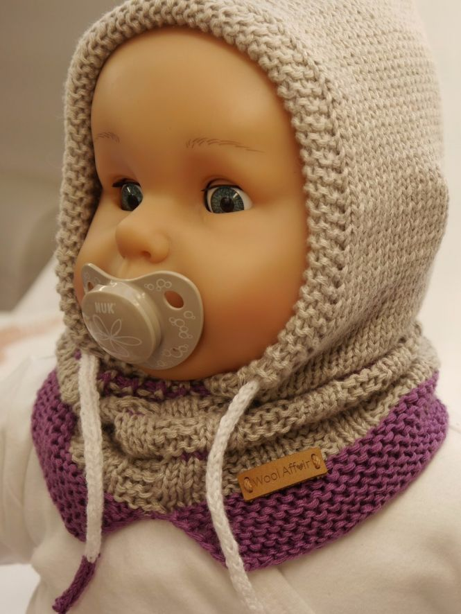 WoolAffair - Strickanleitung - Kapuzenschal Little Hoody für Kinder ...