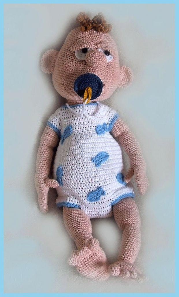 LenasHobby - Baby-Boy PDF Häkelanleitung Puppe | MyBoshi.net