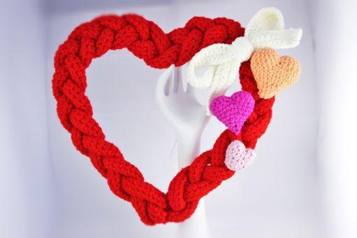 Dekoratives Häkelherz – Valentinsherz