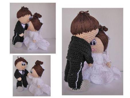 Braut Amigurumi Puppe