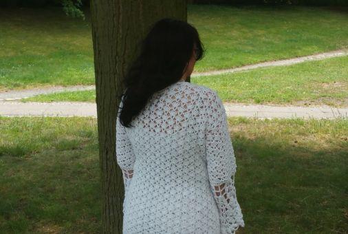 Häkelanleitung Jacke unisize White Collection No.1