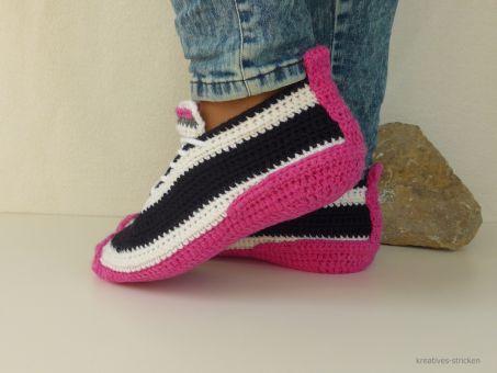 Häkelanleitung Sneakers Gr. 36 - 45
