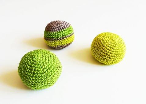 Jonglierbälle häkeln, Häkelanleitung Ball, Spielzeug häkeln