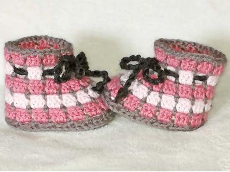 *Pünktchen* niedliche Baby-Schuhe schell + einfach gehäkelt