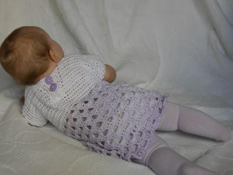 Häkelanleitung Kinderkleid unisize Lila Traum