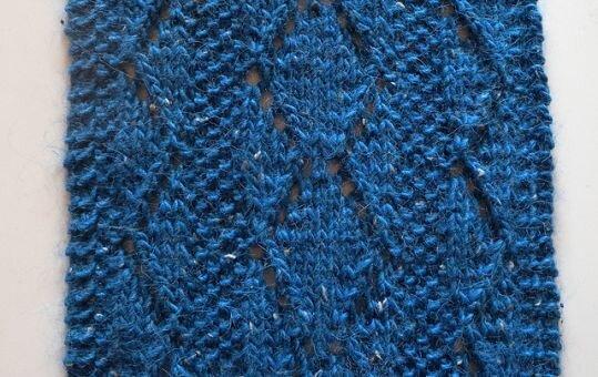 """Strickanleitung Lochmusterschal """"Somewhat Blue"""""""