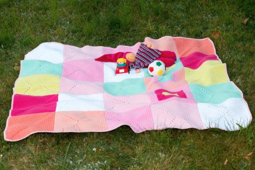 Häkelanleitung Babydecke aus Granny Squares