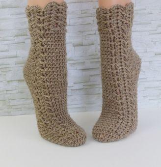 """""""Easy-Soks°5"""" gehäkelte Socken mit 6fach Sockenwolle"""