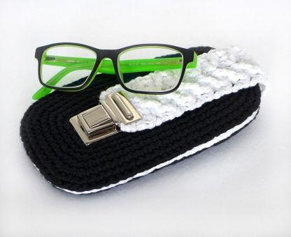 Mod. 012 - Brillenetui / Einsteckhülle mit Zopfmuster