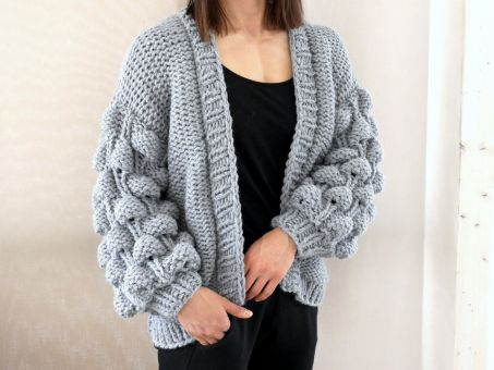 Strickanleitung - EASY - BUBBLE - CARDIGAN S/M L/XL - No.194