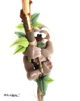Baby Faultier - Häkelanleitung | Affe häkeln, Tiere häkeln ... | 340x271