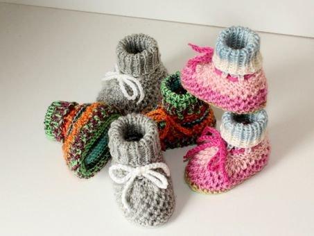 Strickanleitung Baby-Schuhe, Baby-Booties