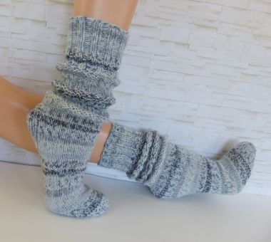 """OneWaySoks°2"" dicke gestrickte Socken / Schoppersocken"