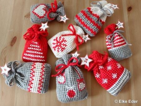 Adventskalender, Weihnachtskalender, Geschnekbeutel