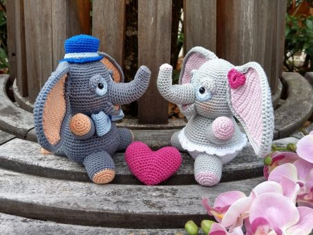 Häkelanleitung Elefant Rosi und Ludwig