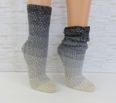 """Easy-Soks°9"" gehäkelte Socken / Schoppersocken"