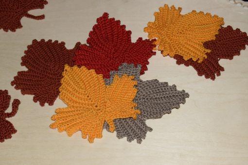+ AHORMBLATT 2.0 + häkeln, Streudeko, Herbstdeko, Blatt