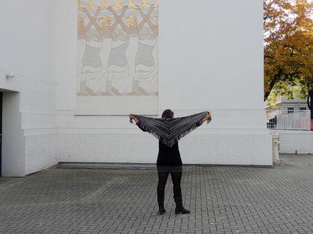 "Strickanleitung Dreieckstuch mit Fransen ""Jazz"""