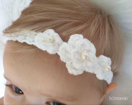 Häkelanleitung Stirnband Rosa