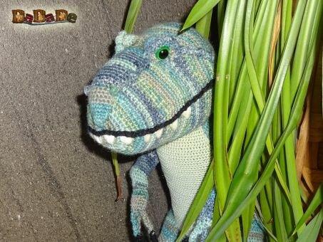 T-Rex Häkelanleitung;  Terry-Rex, von DaDaDe