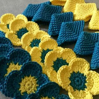 Amish Puzzle Ball aus Blüten