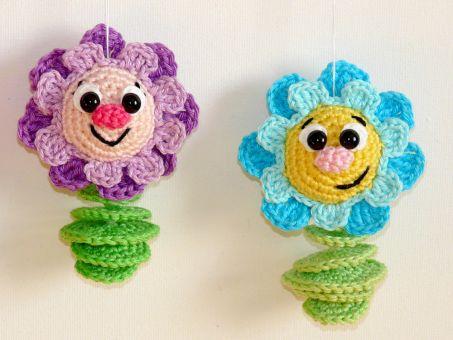 Häkelanleitung Blumenanhänger
