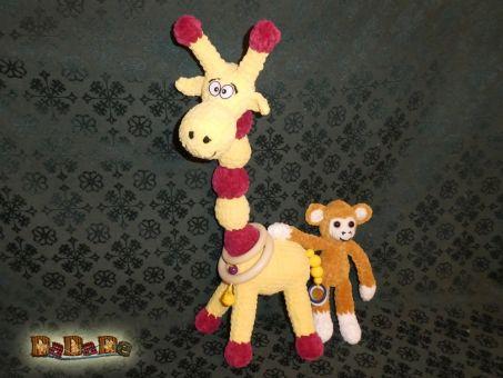 Baby-Kette und Mobile Dschungel mit Affe und Giraffe