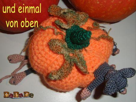 Hilfe, 3 Mäuse im Kürbis, die Herbst Dekoration