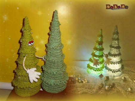 Der lustige Tannenbaum, die beleuchtete Dekoration