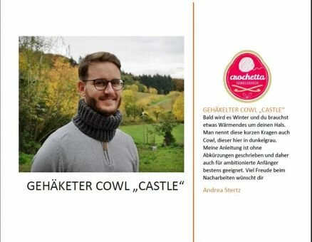 "Gehäkelter Cowl ""Castle"""