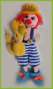 Kleine Clowns, Amigurumi pop ,gehaakte poppen patroon, amigu