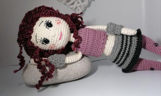 "Häkelanleitung Puppe "" Lilly ""  viele Accessoires u. Details"