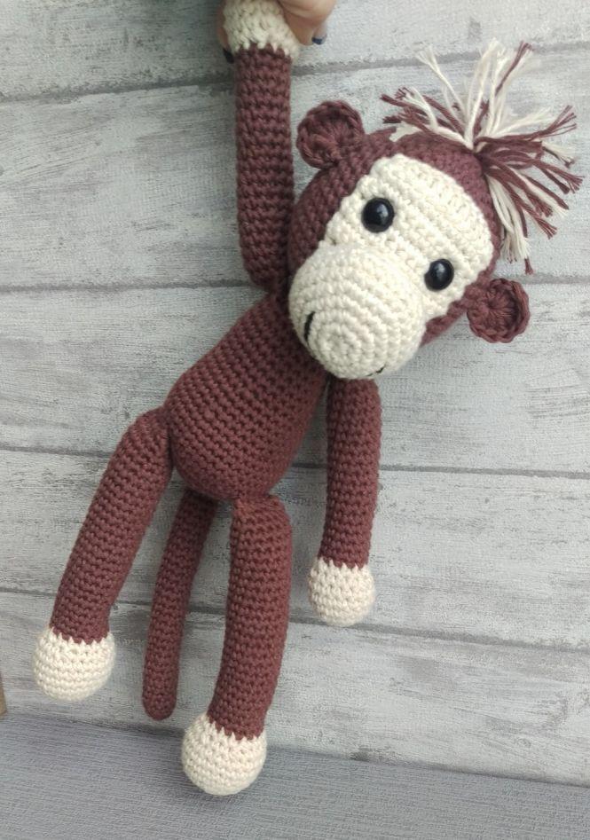 HANKIDS Anki\'s Hands for Kids - Affe - Häkelanleitung | MyBoshi.net