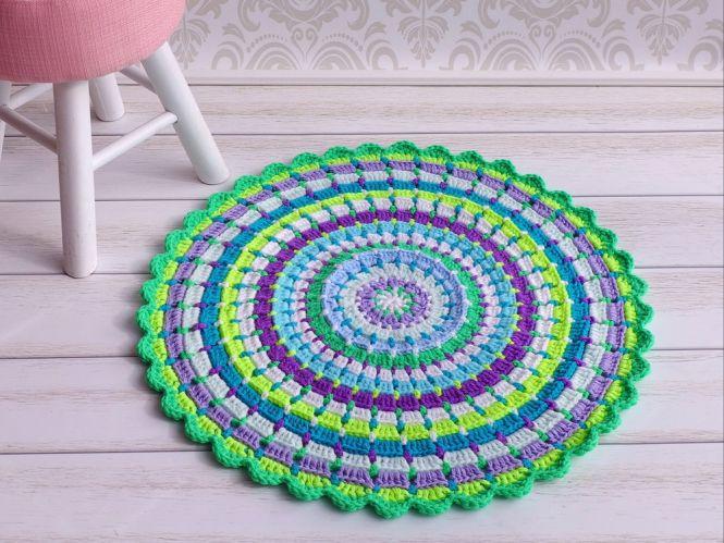 Knitwork by Ina - Häkelanleitung Teppich Kunterbunt in 2 Größen ...