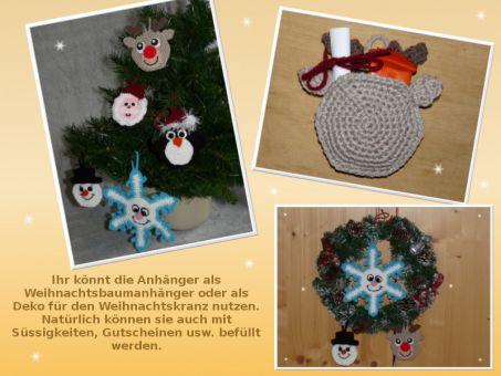 Häkelanleitung süsser Adventskalender, Weihnachtskalender