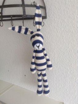 großer Xl Schlenker Hase Emil 50 cm - Schlenkertier