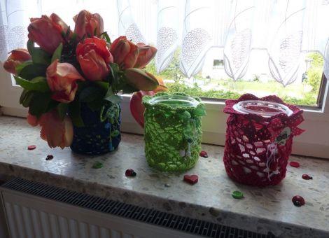 """""""Love"""" Windlicht / Blumenvase - Häkelanleitung"""