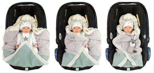 Häkelanleitung Einschlagdecke Babyschale