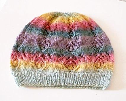 """Strickmuster für Damenmütze """"Lacy Diamonds Hat"""""""
