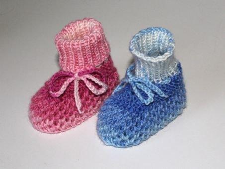 Strickanleitung Babyschuhe, Baby-Booties