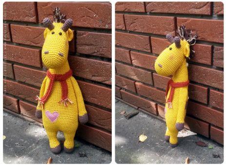 """Häkelanleitung """"Giraffe Gunnar"""""""