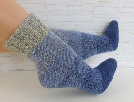 """""""OneWaySoks°1"""" gestrickte Socken - Gr. 22 - 47"""